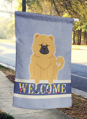 Carolines Treasures  BB5725CHF Chow Chow Cream Welcome Flag Canvas House Size