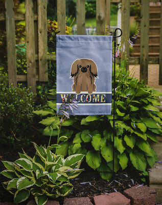 Carolines Treasures  BB5683GF Pekingnese Tan Welcome Flag Garden Size