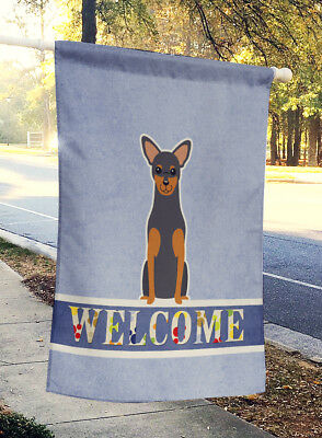 Carolines Treasures  BB5609CHF Manchester Terrier Welcome Flag Canvas House Size