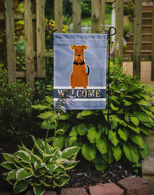 Carolines Treasures  BB5622GF Airedale Welcome Flag Garden Size