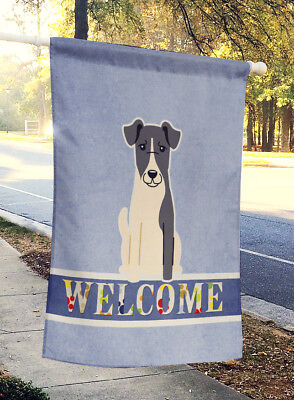 Carolines Treasures  BB5679CHF Smooth Fox Terrier Welcome Flag Canvas House Size