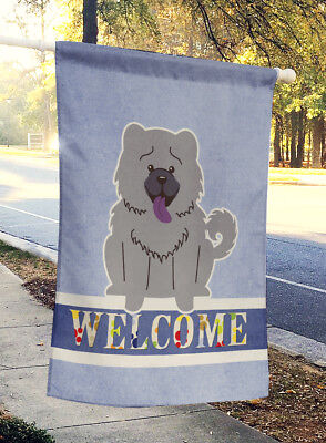 Carolines Treasures  BB5720CHF Chow Chow Blue Welcome Flag Canvas House Size