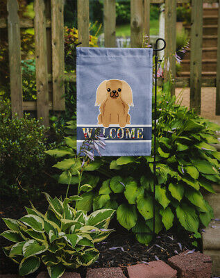 Carolines Treasures  BB5685GF Pekingnese Fawn Sable Welcome Flag Garden Size