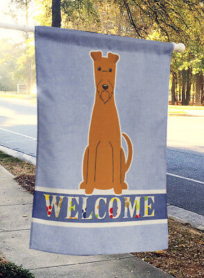 Carolines Treasures  BB5643CHF Irish Terrier Welcome Flag Canvas House Size