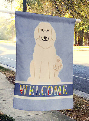 Carolines Treasures  BB5664CHF Great Pyrenese Welcome Flag Canvas House Size