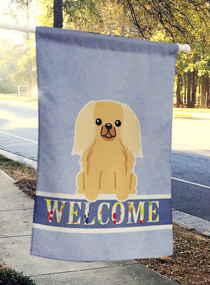 Pekingnese Fawn Sable Welcome Flag Canvas House Size