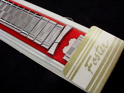 Vintage NOS Foster Flashy Stainless Steel expansion watch band 5/8 inch to 3/4