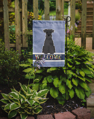 Carolines Treasures  BB5632GF Miniature Schanuzer Black Welcome Flag Garden Size