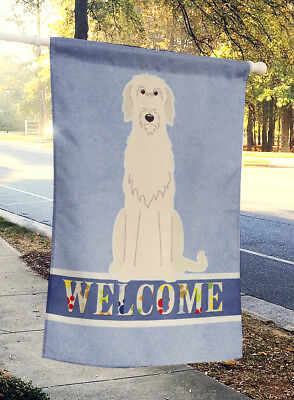Carolines Treasures  BB5646CHF Irish Wolfhound Welcome Flag Canvas House Size