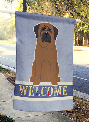Carolines Treasures  BB5665CHF Bullmastiff Welcome Flag Canvas House Size