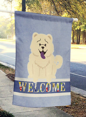 Carolines Treasures  BB5721CHF Chow Chow White Welcome Flag Canvas House Size
