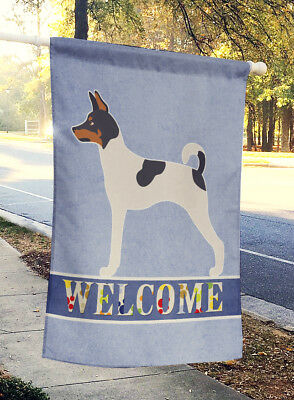 American Toy Fox Terrier Welcome Flag Canvas House Size