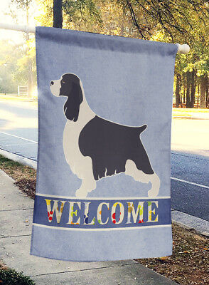 English Springer Spaniel Welcome Flag Canvas House Size