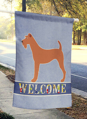 Carolines Treasures  BB8276CHF Irish Terrier Welcome Flag Canvas House Size