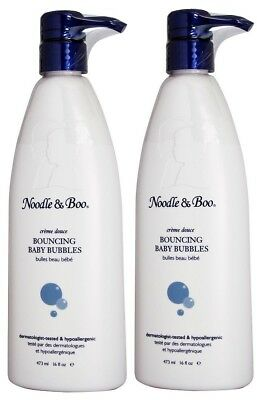 (Pack of 2) Noodle & Boo Bouncing Baby Bubbles 16 oz. / 473ml