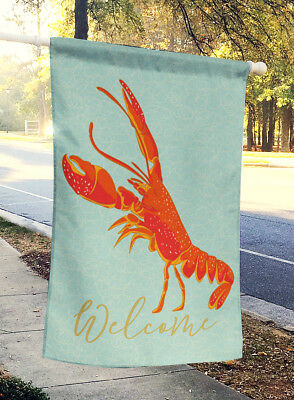 Carolines Treasures  BB8585CHF Lobster Welcome Flag Canvas House Size
