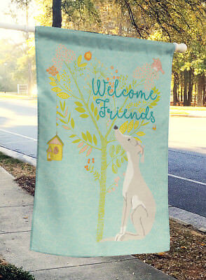Welcome Friends Italian Greyhound Flag Canvas House Size