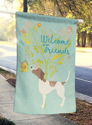 Carolines Treasures  BB7598CHF Welcome Friends Pointer Flag Canvas House Size