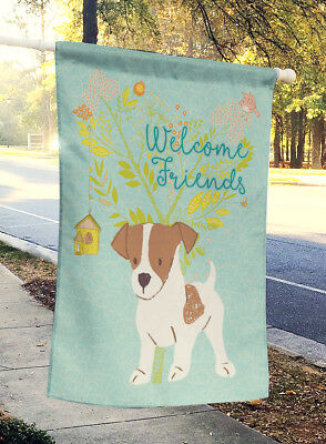 Welcome Friends Jack Russell Terrier Puppy Flag Canvas House Size
