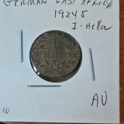 German East Africa 1 Heller 1912-J AU