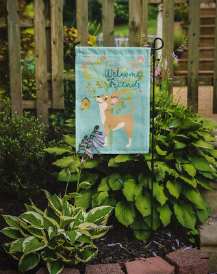 Welcome Friends Brown White Chihuahua Flag Garden Size