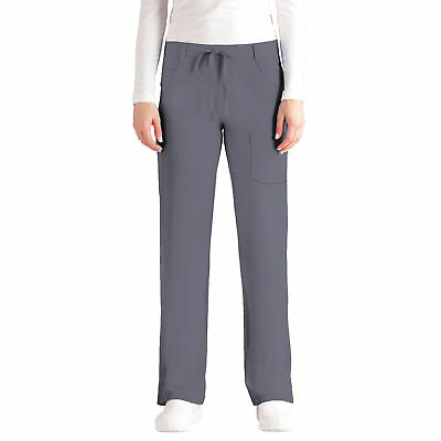 NrG by Barco Women's Junior Fit 4 Pocket Tie Front Straight Leg Scrub Pant