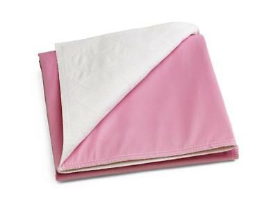 "Medline Sofnit 300, Pack of 4 Large Washable Pink Underpads, 34""x36"""