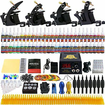 Tattoo Starter Kit Professional Tattooing Machine Liner Shader Machines Ink Set
