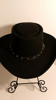 Western Faux Felt Gambler Cowboy Hat Black Large  X-Large for Christmas c9a88e799da7
