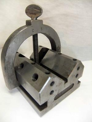 Vintage Machinist V Block  with clamp