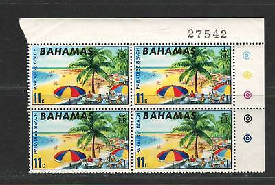 "BAHAMAS  Very Fine MNH Corner block of 4 Stamps ""Paradise  Beach"""