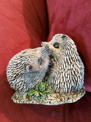 """HEDGEHOGS FIGURINES ~~ 2 5/8"""" T. x 3 3/8"""" x 2 1/4"""" ~~ FREE SHIPPING in USA!!"""