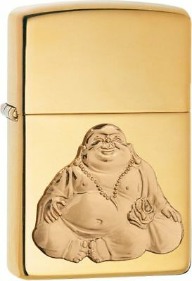 Zippo Windproof Laughing Buddha Emblem Lighter,  29626, New In Box