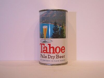 Tahoe Pale Dry Beer Flat Top Beer Can ( STUNNING )