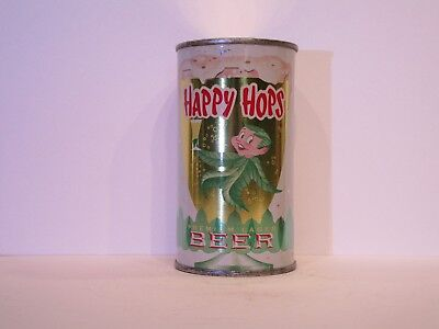 Happy Hops Premium Lager Beer Flat Top Beer Can ( STUNNING )