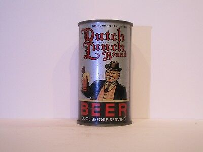 Dutch Lunch Brand  Beer O/I Flat Top Beer Can ( Tough #212 )