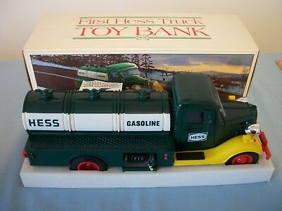 1985 The First Hess Toy Truck Bank In The Original Box