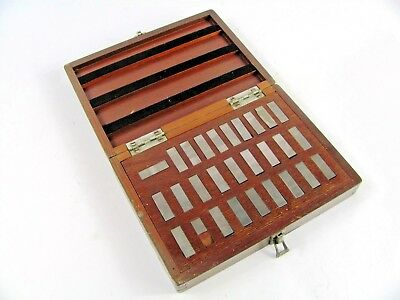 """ICC 28 Piece Block Gage Set .010"""" to .0209"""" With Wooden Case Industrial"""