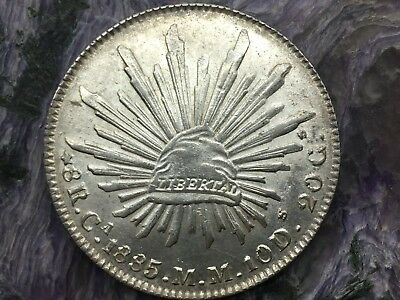 REPUBLIC OF MEXICO 8 REALES SILVER 1885 Ca MM CHIHUAHUA MINT