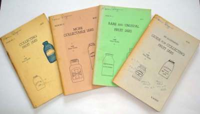 Vintage COLLECTING FRUIT JARS WITH PRICE GUIDE 1967-1971 Lot of 4 Books R.Burris