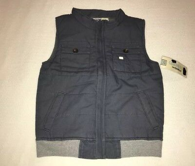 NWT Genuine Kids By Osh Kosh Jacket Vest Boy's Size 7 Tom Cat Gray FREE US SHIP!