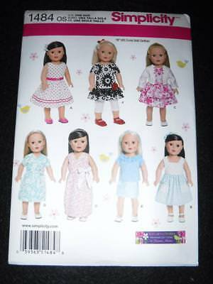 """Simplicity 1086 Pattern 18/"""" Doll Clothes Fits American Girl 1950/'s Look"""