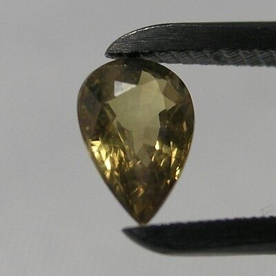 Real Green Chrysoberyl Drop 0.8CT 7x5mm