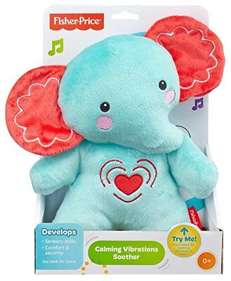 New Fisher-Price Calming Vibrations Cuddle Soother Plush Great Baby Gift Blue
