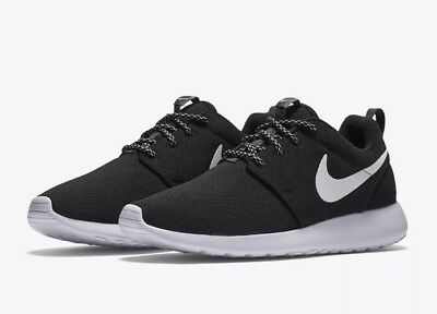 separation shoes 919a5 dac30 Women s Nike Roshe One Athletic Casual Shoes 844994-002 Black White SZ