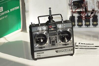 Futaba Conquest FP-T4NL RC System incl. Transmitter, receiver and servos