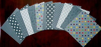"SHADES OF GREY Scrapbooking Papers x 12 ~ 15cm x 15cm ~  (6"" X 6"")"