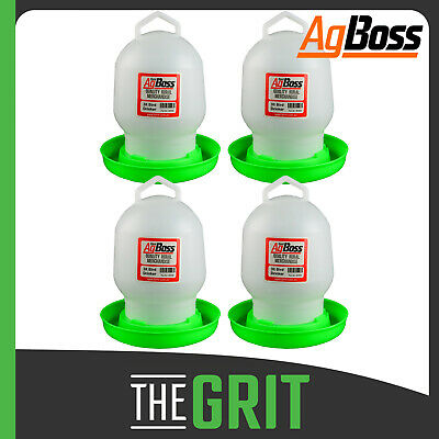 AgBoss 6 Pack 3L Poultry Drinkers Chicken Chook Water Waterer Drinker