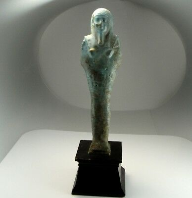 Published Shabti Ancient Egyptian 300 BC Late Period Faience Mummy Tomb Ushabti
