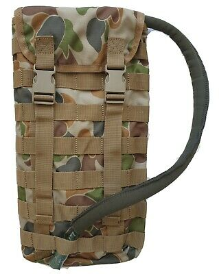 Molle Hydration Pouch Auscam 3699 + Free!! 2Lt Wide Mouth Bladder - Tas